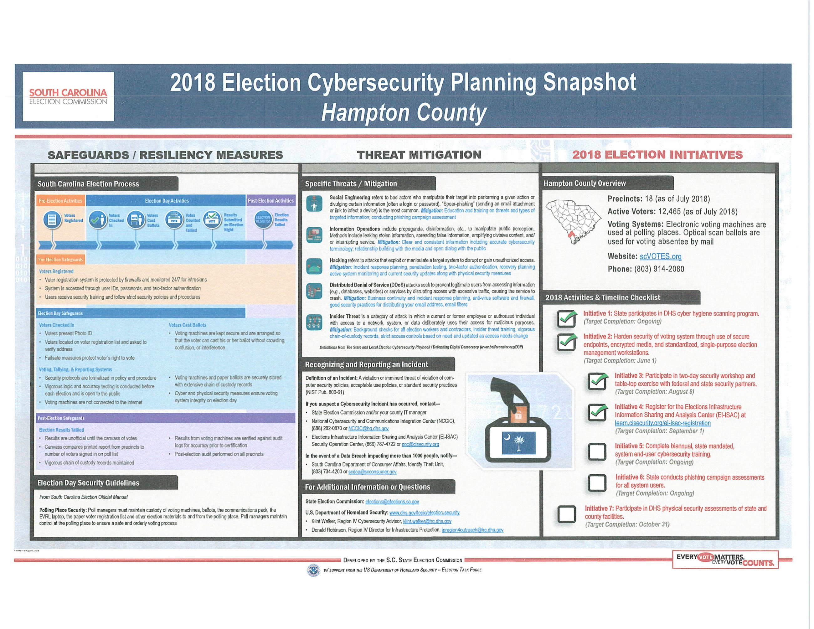 Cyber Election Poster Hampton County SC