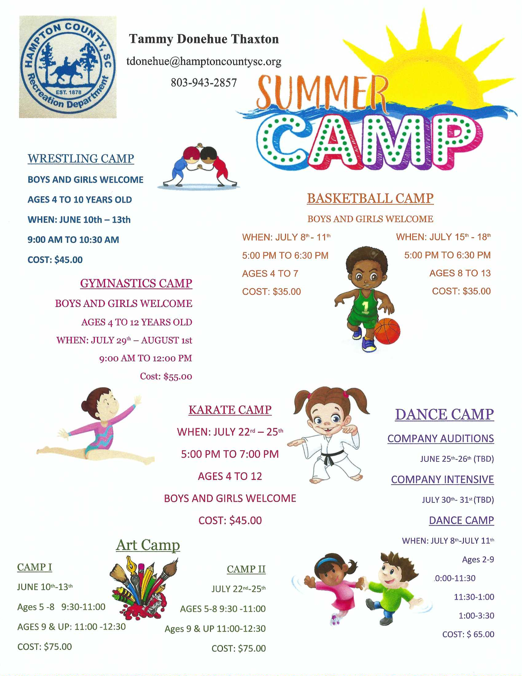 Summr Camp 2019 Flyer